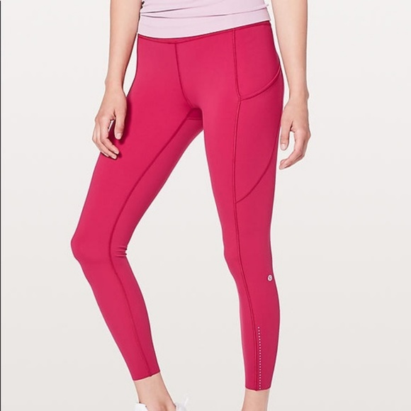 0e45eebcc895f2 lululemon athletica Pants - Lululemon Fast & Free 7/8 Tight II *Nulux Ruby
